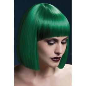 Зеленый парик со стрижкой прямой боб