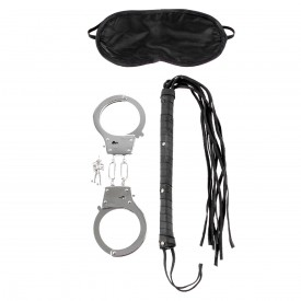Набор для эротических игр Lover's Fantasy Kit - наручники, плетка и маска