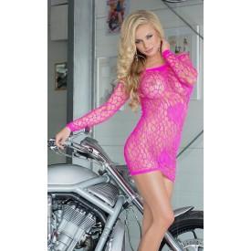 Очаровательное платье-сетка с узором в виде сердечек
