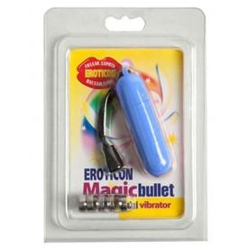 Голубая вибропуля Magic bullet - 7 см.